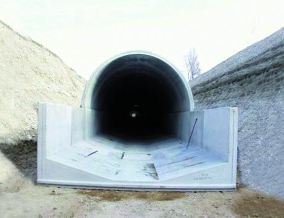 plein cintre EPSE ouvrage assainissement Ouvrage d'assainissement vers Lyon